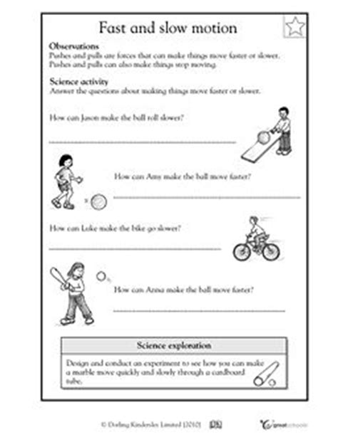 And Motion Worksheets by Fast And Motion Science
