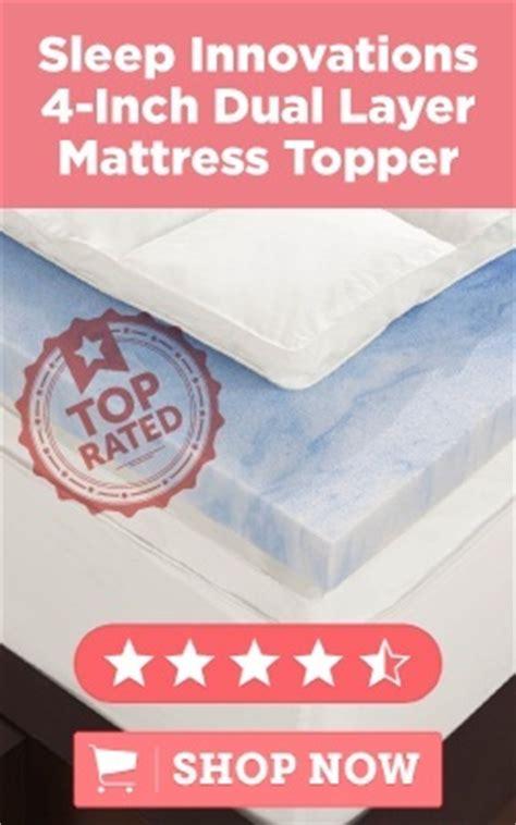 Sleep Innovations 4 Inch Mattress Topper by Size Memory Foam Mattress Topper