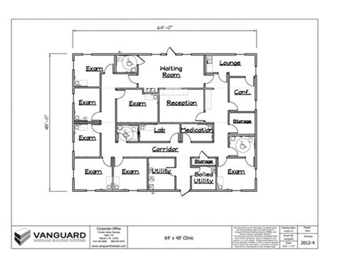 medical clinic floor plan 64 x 48 clinic building floor plan permanent modular