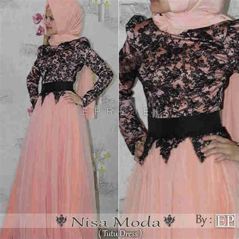 Gamis Maxi Dress Overall Sleting gamis modern murah ningrum nurfadilah cliq shop