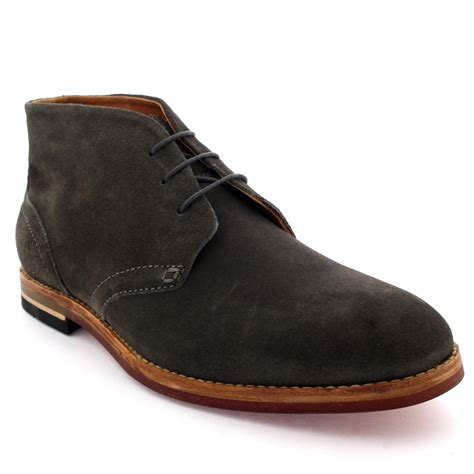 chukka boots uk mens h by hudson houghton 3 leather suede work smart