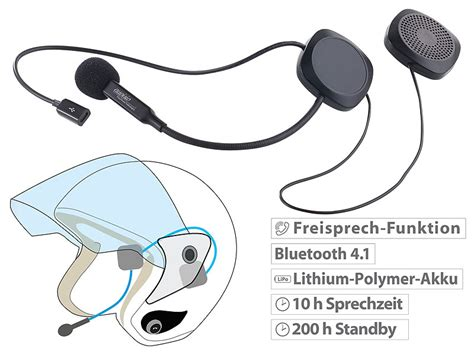 Bluetooth Motorrad Headset Test by Auvisio Stereo Headset Mit Bluetooth 4 1 Freisprecher