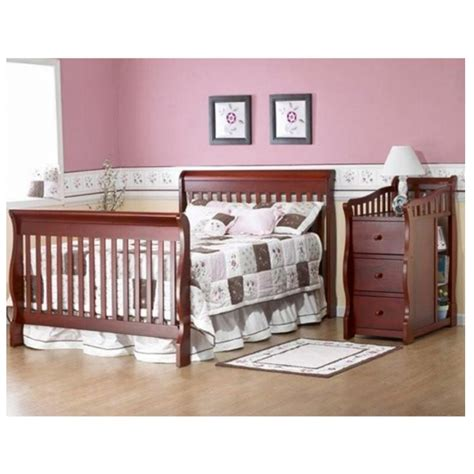 Crib And Mattress Combo Convertible Baby Crib Changing Table Combo Nursery Furniture 4 In 1 Bed Toddler Nursery