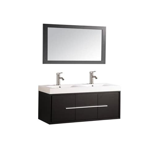bathroom vanity 48 x 18 shop mtd vanities espresso integral double sink bathroom