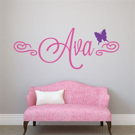 11 Best Name Wall Decals Images On Pinterest Baby Girl Custom Nursery Wall Decals