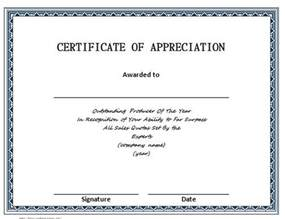 template of certificate of appreciation 30 free certificate of appreciation templates and letters