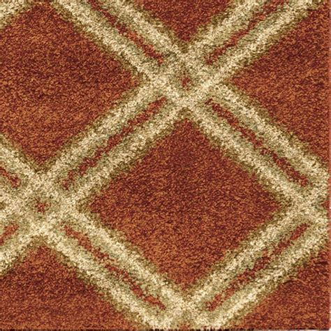 Orange Area Rug 5x8 3630 5x8 Orian Rugs 3630 5x8 Plush Diamonds Concentric Diamonds Burnt Orange Area Rug 5 3 Quot X