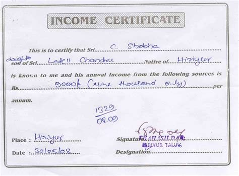 Income Certificate On Letterhead A Letter Of Domicile Sle Notice Of Notification Of Letter Letter To