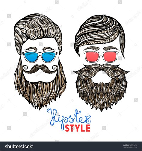 doodle free hair royalty free two hair style heads with