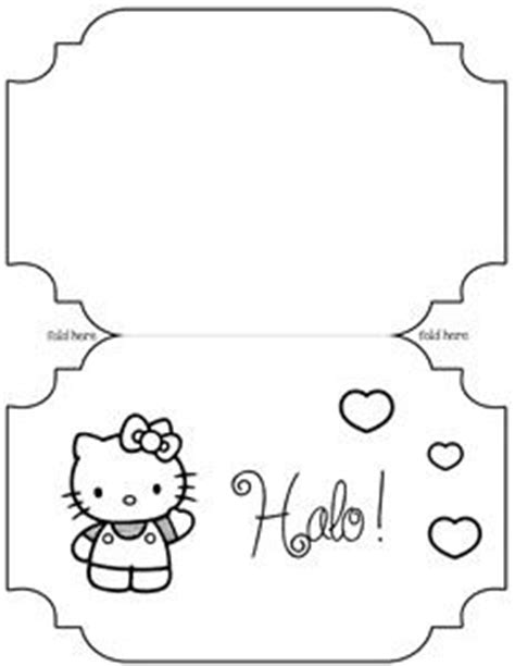 primary birthday treat card template 17 best images about hello on