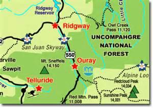 map of ouray colorado ouray colorado rental home