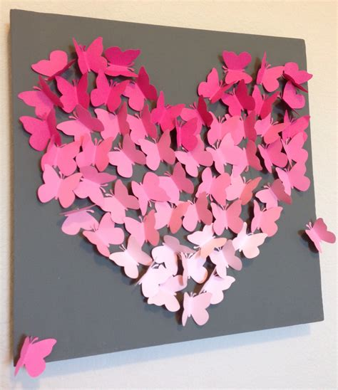 How To Make Paper Butterfly Wall Decor - diy ombre butterfly wall