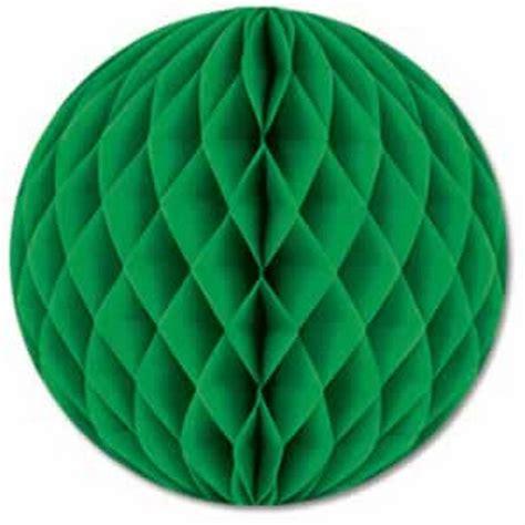 Tissue Paper Balls - leo honeycomb tissue paper balls green