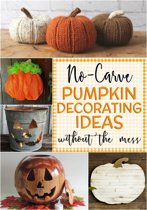 Pumpkin Decorating Ideas Without Carving by 23 Adorable Pumpkin Decorating Ideas Without Carving And