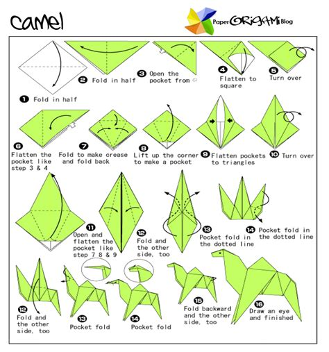 How To Make A Paper Animals - animals origami camel paper origami guide