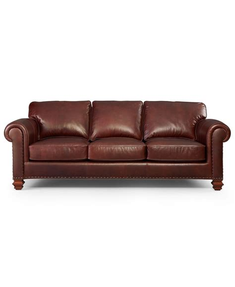 Macys Leather Furniture by Ralph Leather Sofa Stanmore Living Room
