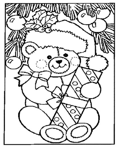 holidays coloring pages teddy bear toys coloring pages