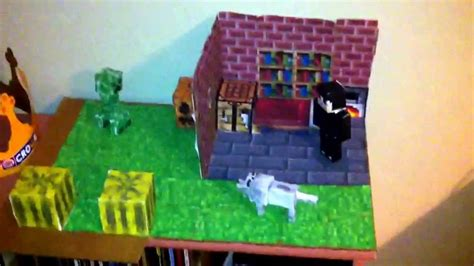 How To Make A Paper Minecraft Person - minecraft paper craft the house
