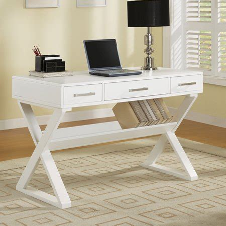 White Company Desk by Coaster Company Contemporary Computer Desk White
