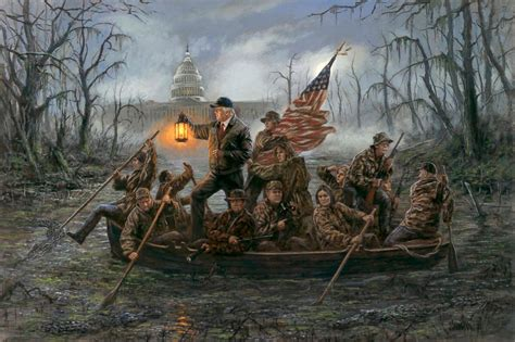 freedom boat club deep river ct crossing the sw painting puts a trump twist on iconic