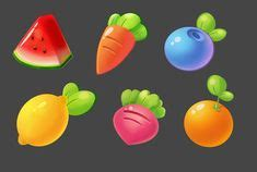 fruit vector icons  sets  beautiful vector fruit