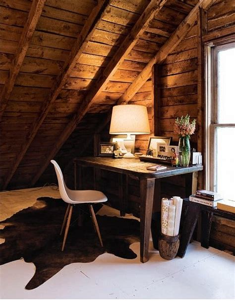 Attic Work Space | cool attic home office ideas