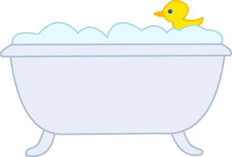 Bubble bath with rubber ducky free clip art