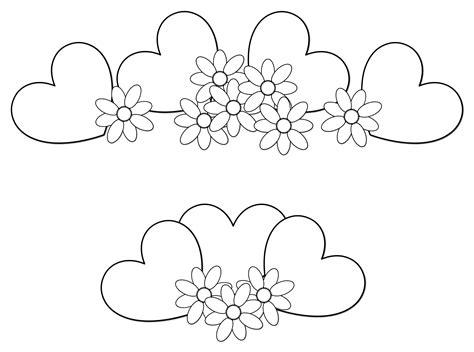 imagenes en blanco para colorear de flores dibujos para colorear