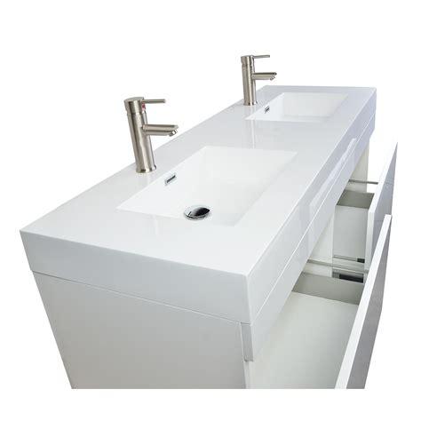57 bathroom vanity buy 57 inch modern double sink vanity set in glossy white
