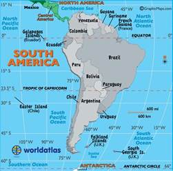 south america capital cities map map of south america