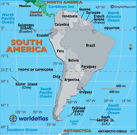 south america map bodies of water political map of south america worldatlas