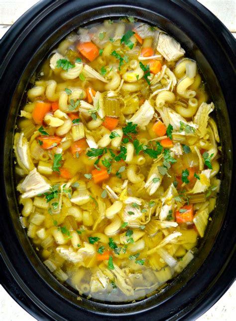 crock pot chicken noodle soup gonna want seconds