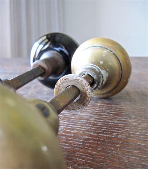 Industrial Door Knobs by Vintage Brass Door Knob Industrial Door Knobs Black Door