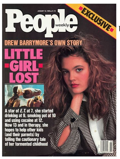 Drew Barrymore On March Cover Of by Drew Barrymore At 13 Years Magazine January