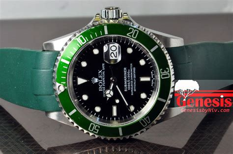 Rubber B For Rolex Submariner rolex submariner 50th anniversary with green rubber b