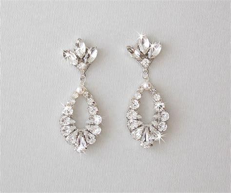 Ohrringe Hochzeit Vintage by Wedding Earrings Bridal Earrings Vintage Style
