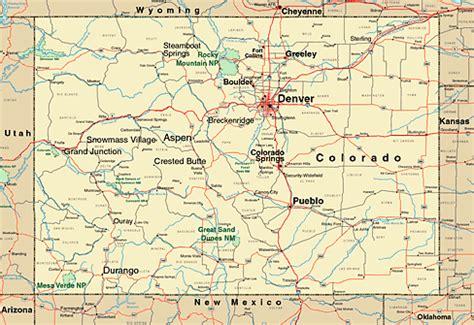 colorado state in usa map colorado map