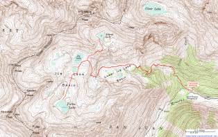 topographic map of lake basin san juan mountains