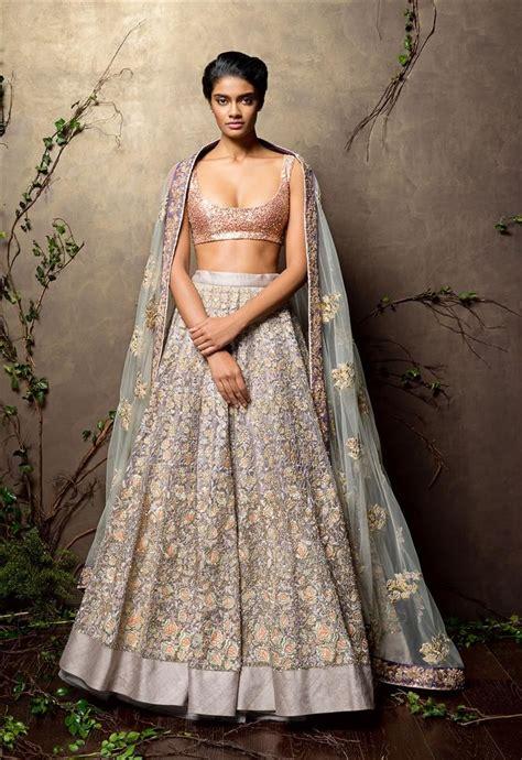 Indian Skirt 5 shyamal bhumika a lehenga with sparkly pink blouse pistachio green