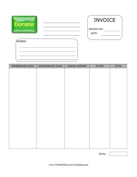 donation invoice template donation invoice template