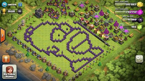 offensive layout in coc vtipn 233 vesnice č 1 clash of clans cz