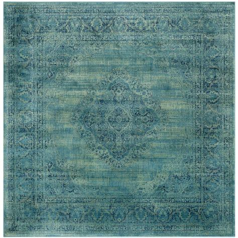 Safavieh Vintage Turquoise Multi 6 Ft X 6 Ft Square Area 6 Ft Area Rugs