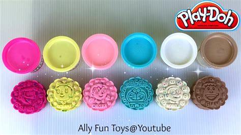 Play Doh Confetti Compound Play Doh Confetti Compound Collection Doraemon Mooncakes
