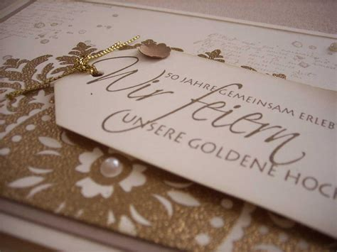 Einladung Zur Goldenen Hochzeit by Einladungskarten Goldene Hochzeit Einladungskarten