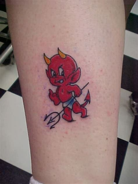 baby devil tattoo for men