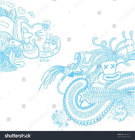 doodle blue doodle blue stock vector 94828714