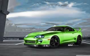 Green Toyota Green Toyota Turbo Toyota Supra Import Car Adv 1