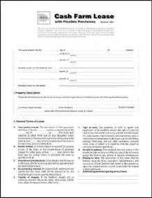 Plan Maker Online cash farm lease with flexible provisions