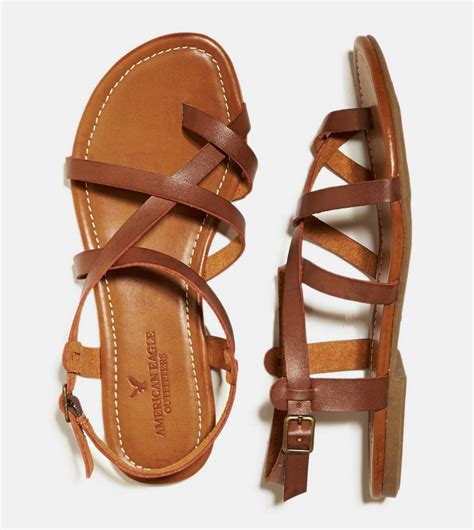 strappy brown sandals brown strappy criss cross sandal 30 american
