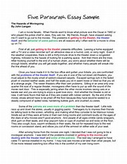 paragraph essay example  image result for 5 paragraph essay example